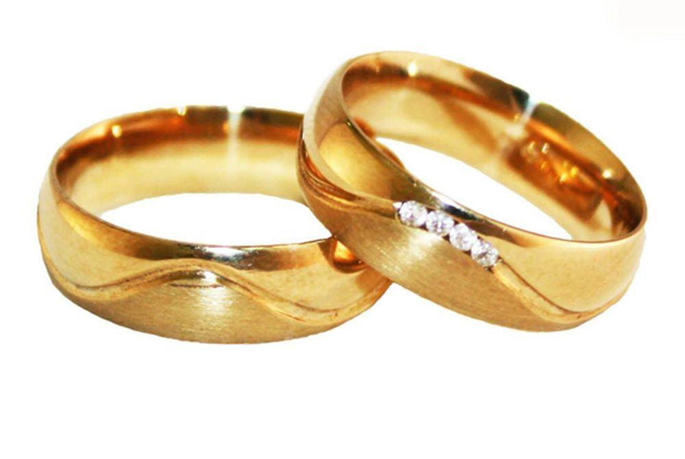 Alianças Casamento Ouro Amarelo ALC74A