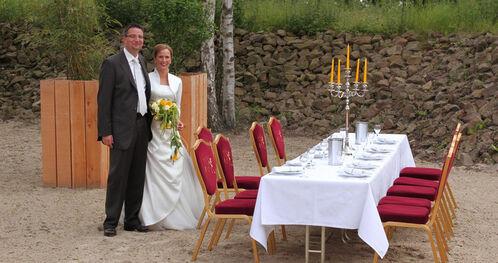 Beispiel: Brautpaar, Foto: Landhotel Beverland.