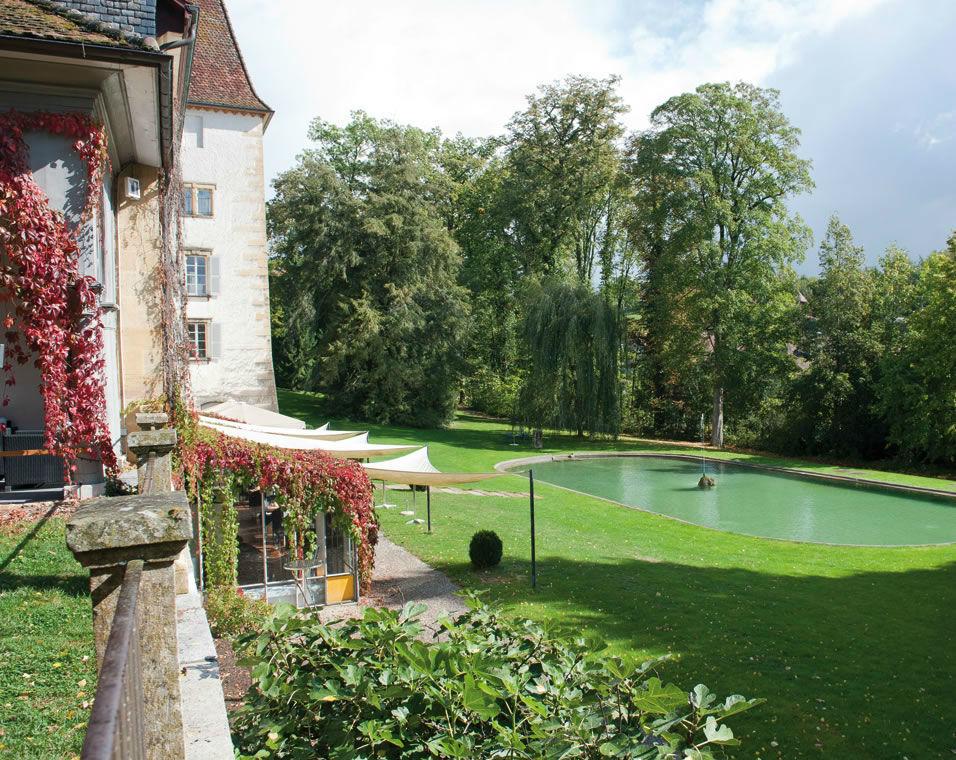 Beispiel: Garten, Foto: Schloss Münchenwiler.