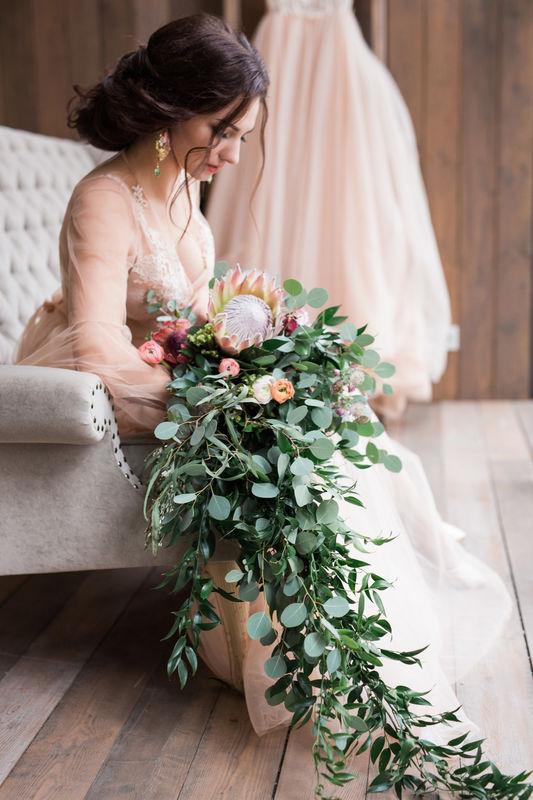 Букет невесты  Свадьба February_Garden