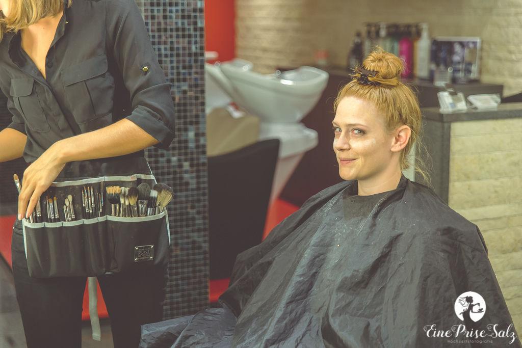 Hochzeitsreportage: Make-up der Braut