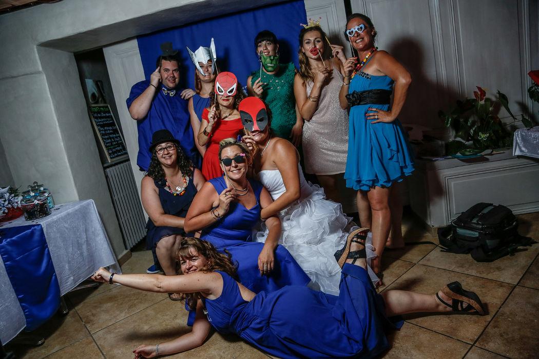 Mariage thème super-héros Marvel : photobooth