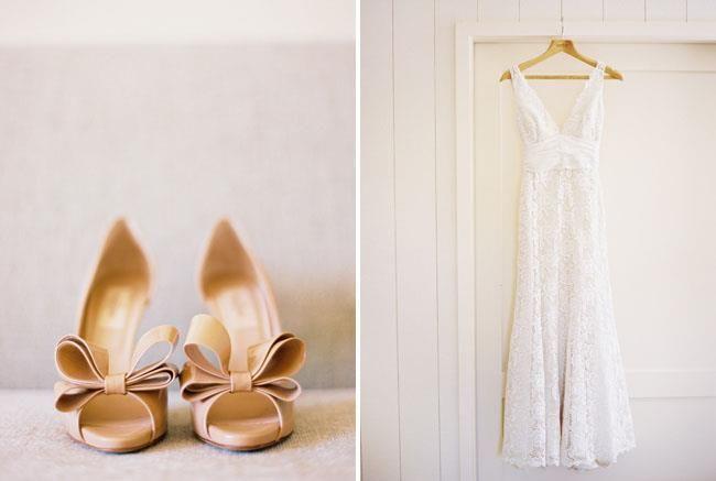 Beispiel: Brautschuhe passend zum Brautkleid, Foto: Gwendolina - Schöne Schuhe für die Braut.