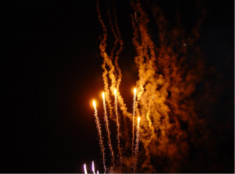 Beispiel: Feuerwerk, Foto: Seeblick Magdeburg.