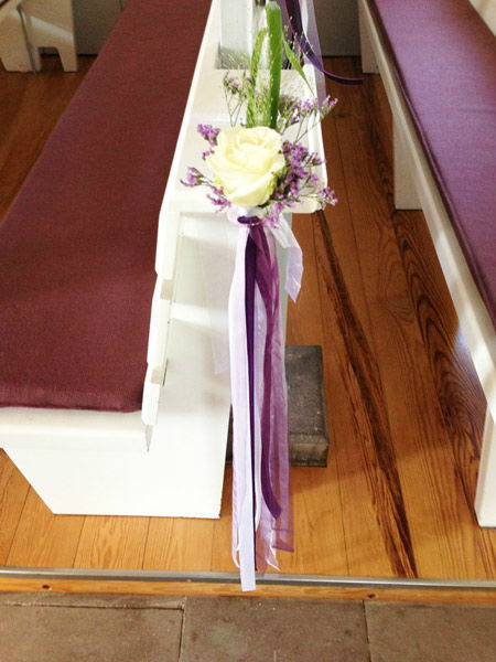 Beispiel: Kirchenschmuck, Foto: Blumen Bachmann.