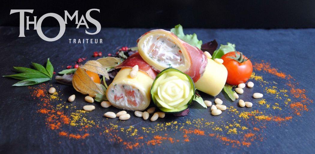 Entrée Froide : Cannellonis à la Coppa, antipastis en folies