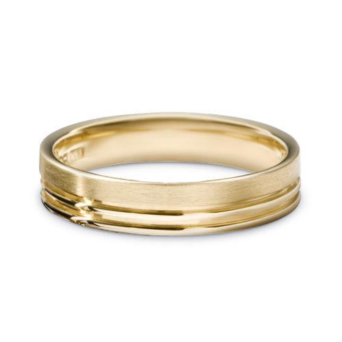 AM23 Aros de matrimonio hechos a medida en oro blanco o amarillo 18K.