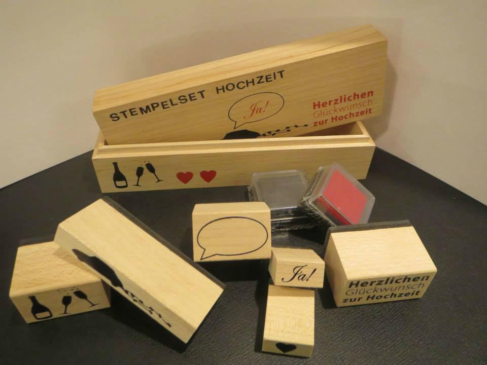 Beispiel: Stempelset, Foto: Schacht & Westerich Papierhaus.