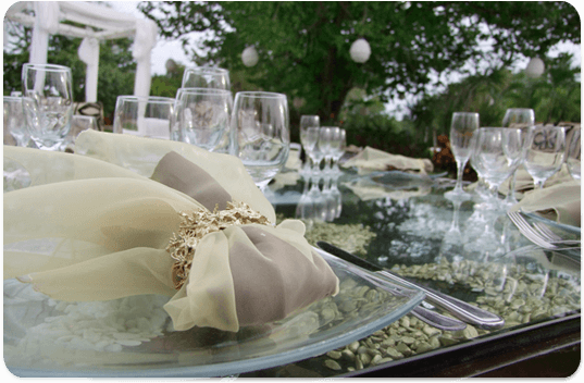 Decoración de boda. Caty Gomez, Wedding Planner en Riviera Maya