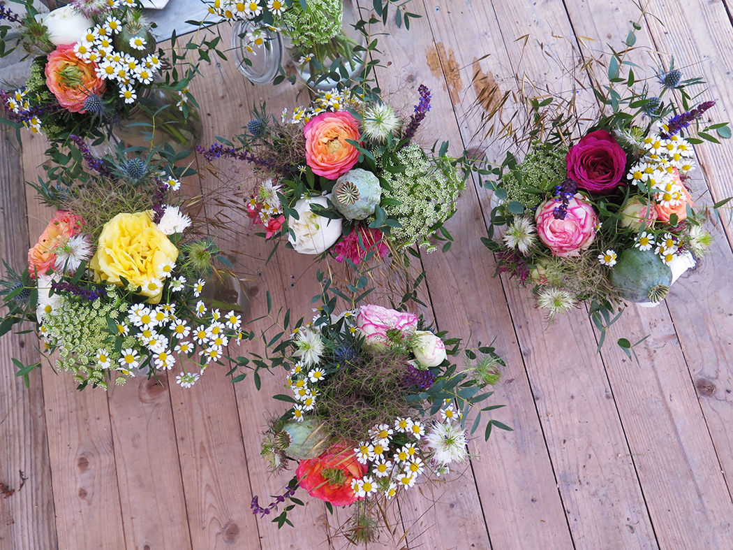Herbes Fauves - Bouquets de table champêtre et coloré