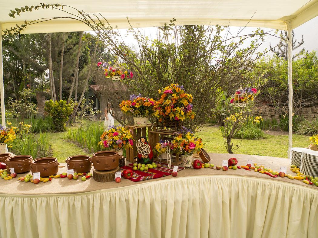 Mesa de buffet criollo - gourmet