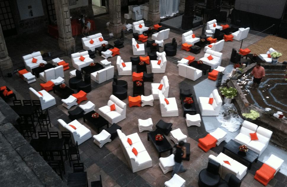 Eventos Lounge, mobiliario para bodas en Distrito Federal.