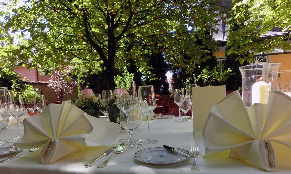 Beispiel: Kastaniengarten, Foto: Hotel Schreiegg's Post.