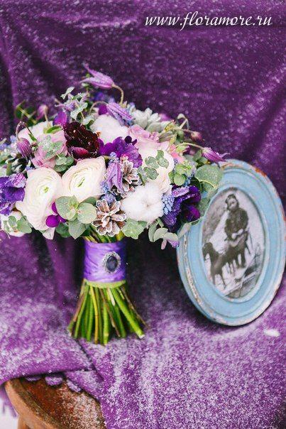 Зимний букет невесты. Флорист Кристина Каберне Фото Ирина Климова