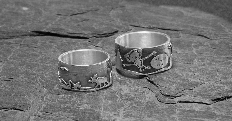 Beispiel: Die ganz individuellen Ringe, Foto: Anette Klook.