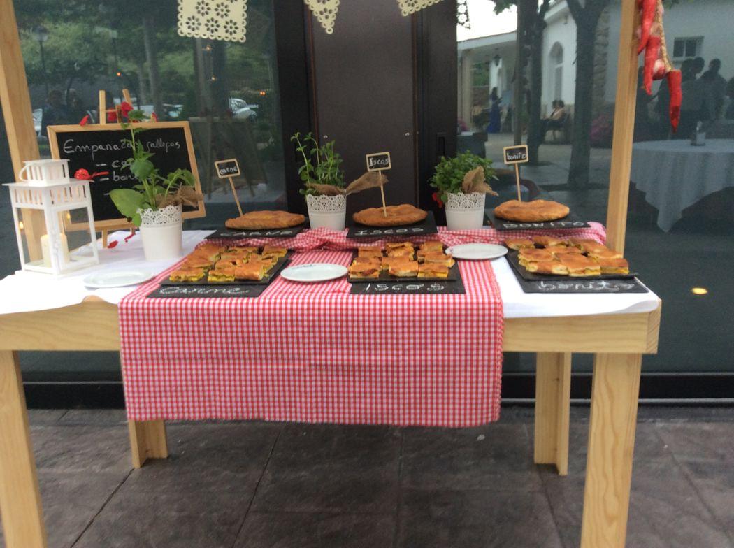 mesa empanadas gallegas