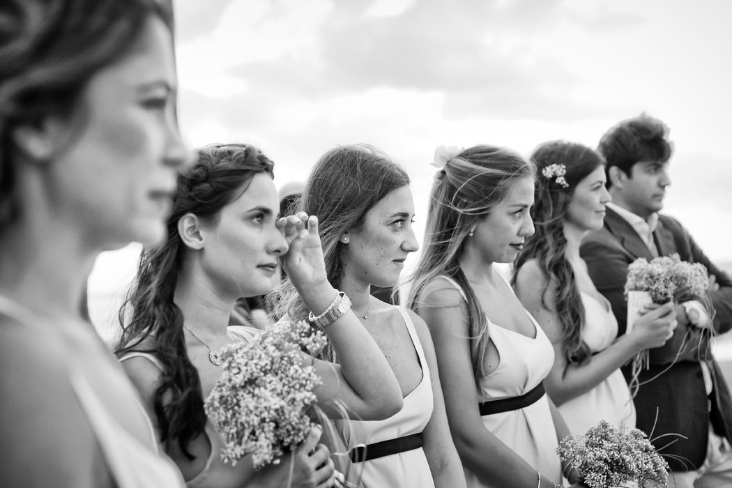 Matrimonio sulla spiaggia damigelle