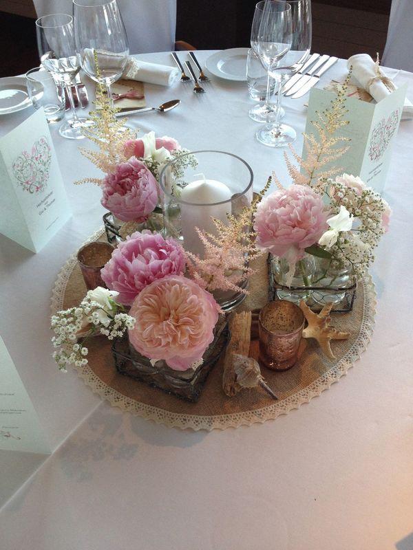 Beispiel Tischdekoration: Beach Wedding