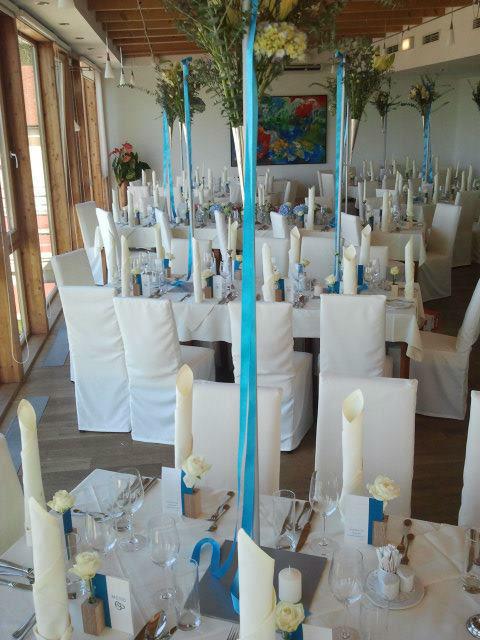 Beispiel: Hochzeitsgedeck, Foto: Das Eisenberg.