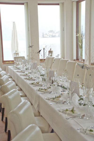 Beispiel: Festlich gedeckte Tafel, Foto: Seecafe Restaurant Spitzvilla.