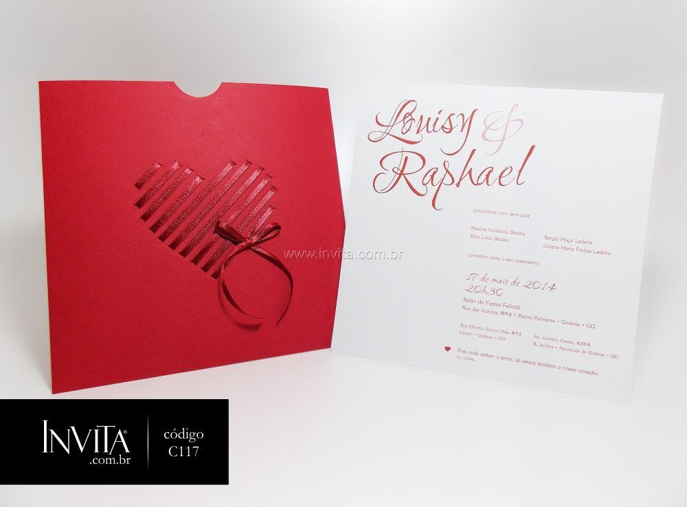 Convite de Casamento Criativo e Romântico - Cód.: C117