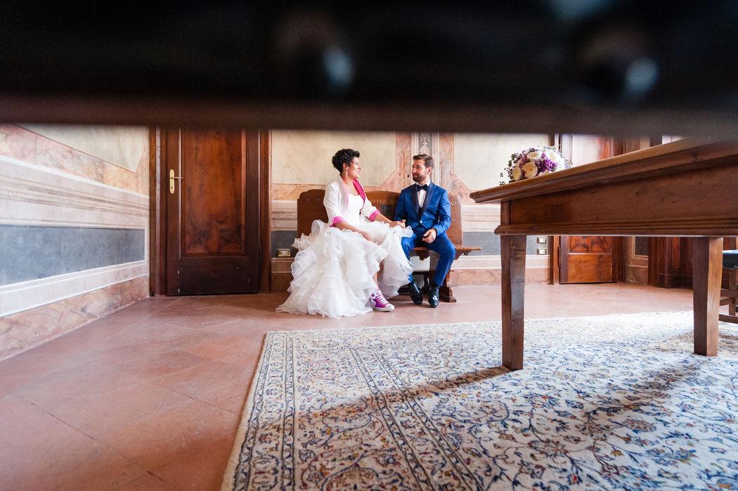 indoor wedding photo session