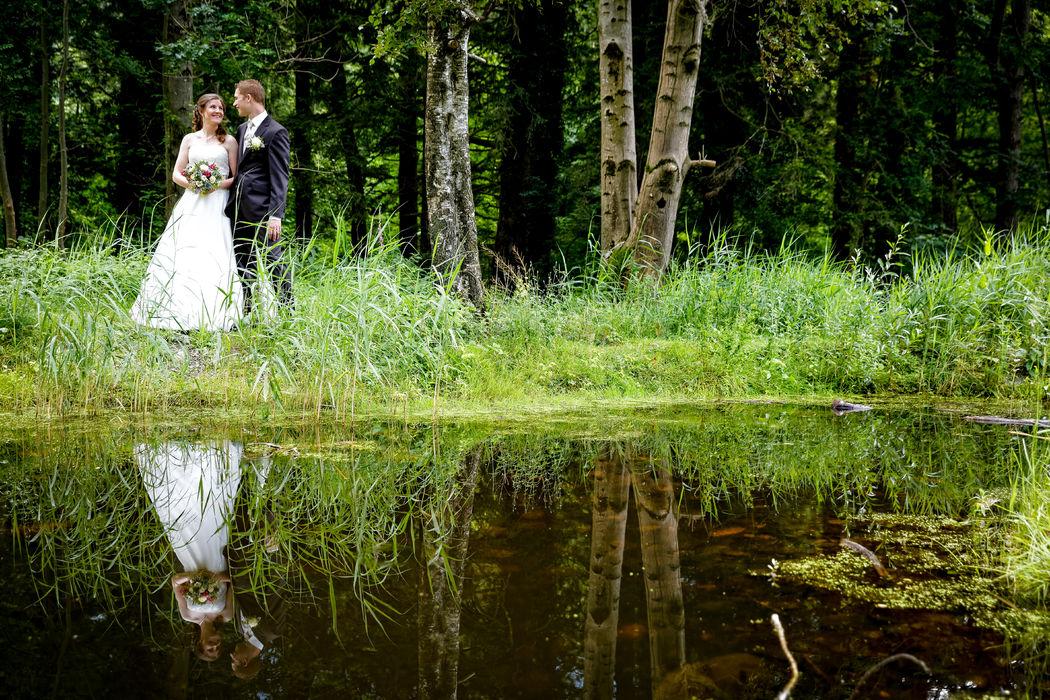 Brautpaarfoto vor Trauung