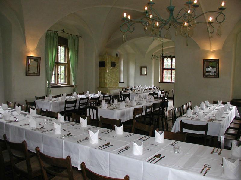 Beispiel: Grüner Salon, Foto: Schloss Scharfenberg.