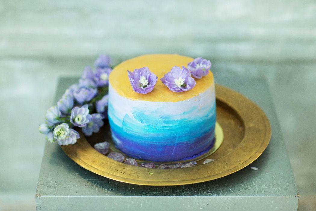Торт с переходом цвета