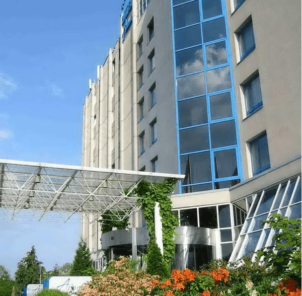 Beispiel: Außenansicht, Foto: Atlanta Hotel International Leipzig.