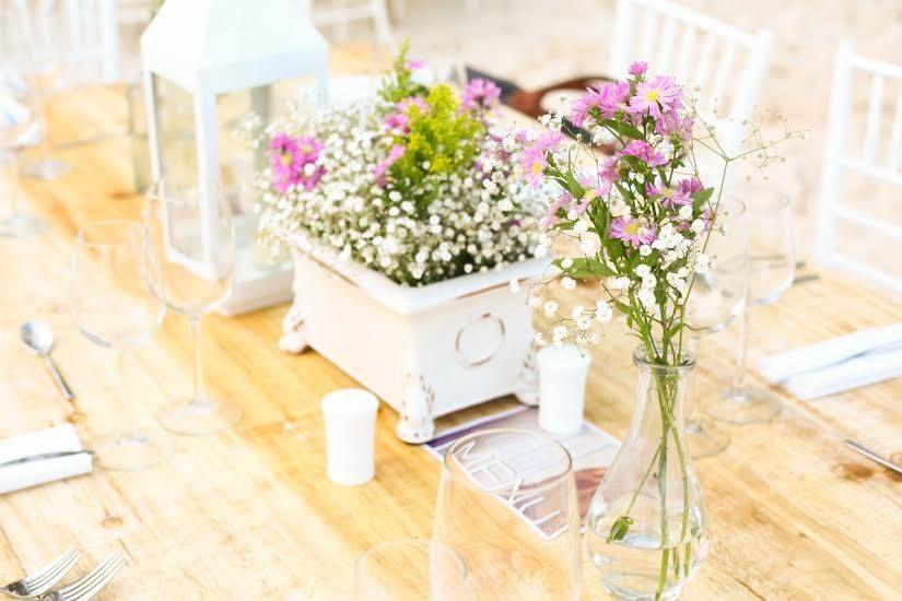 Flores y colores con toques romanticos