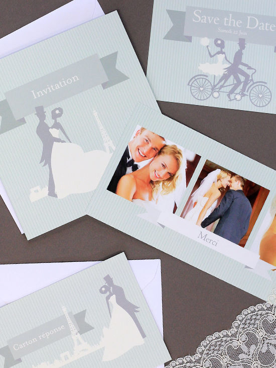 Cartes de mariages de la collection