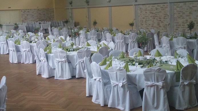 Beispiel: Eventhalle - Bankett, Foto: Eventhalle Gartenstadt.