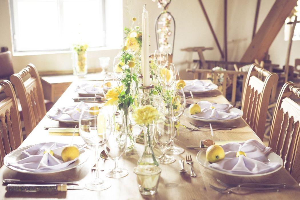 Die (Tisch-)Dekoration ist die halbe Miete.