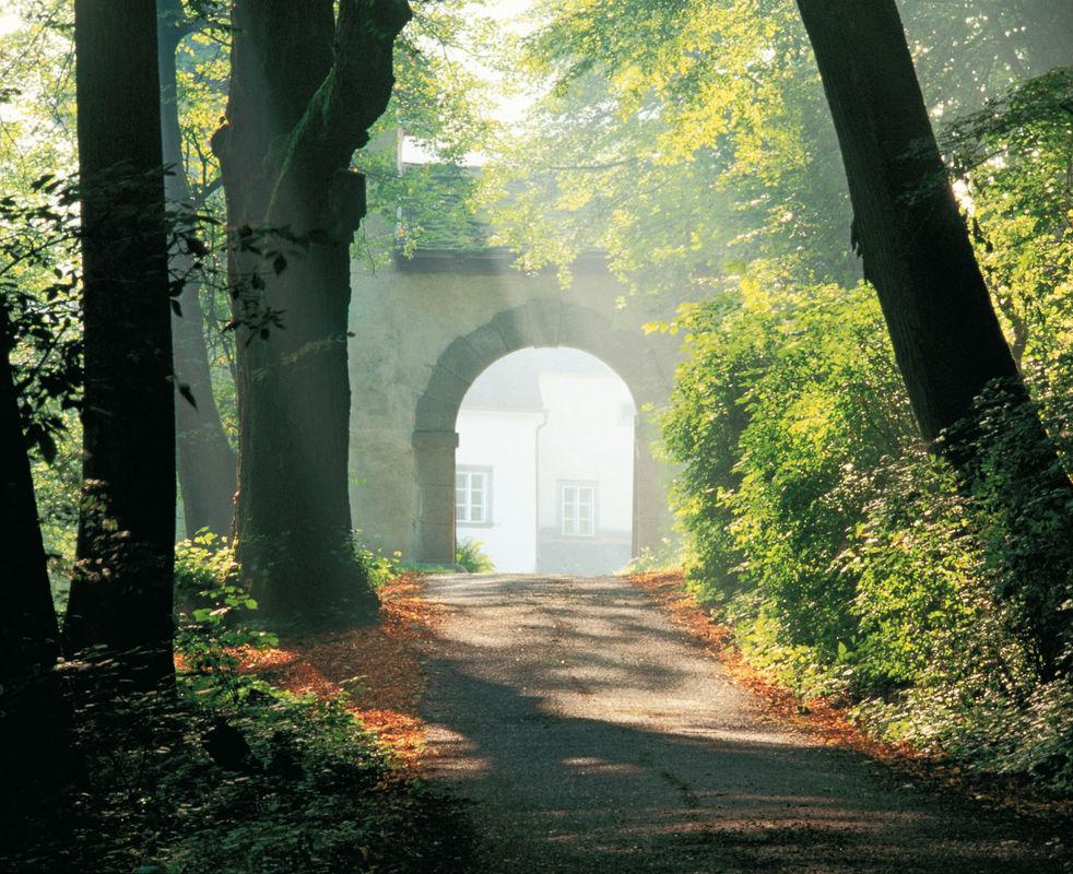 Beispiel: Einfahrt, Foto: Burg Clam.