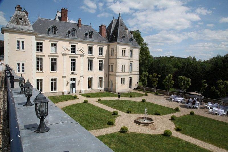 la cour d'honneur  depuis le toit terrasse- Château de Villiers Cerny