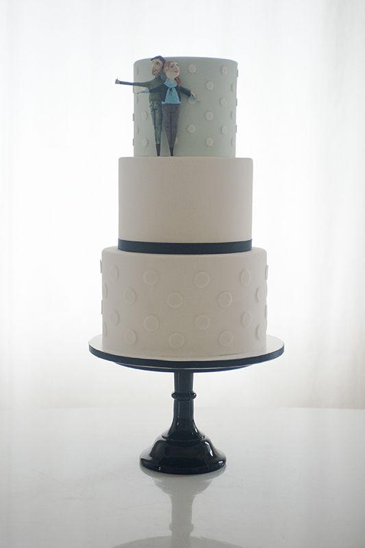 Wedding Cake Fondant mit individuellem Cake Topper | Foto: Die Zuckerbäckerin