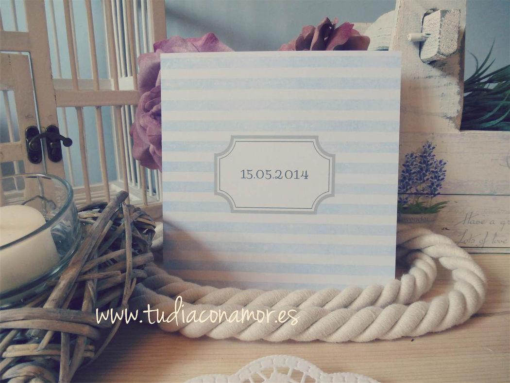 Invitación postal de boda retro