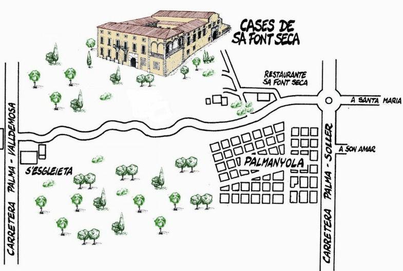 Ses Cases de Sa Font Seca, plano situación