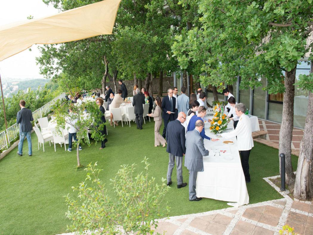 La Locanda del Pontefice giardino Buffet secondo livello