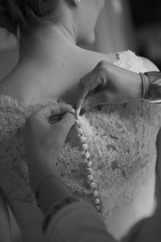 Agence Evolution, préparatifs de la mariée.