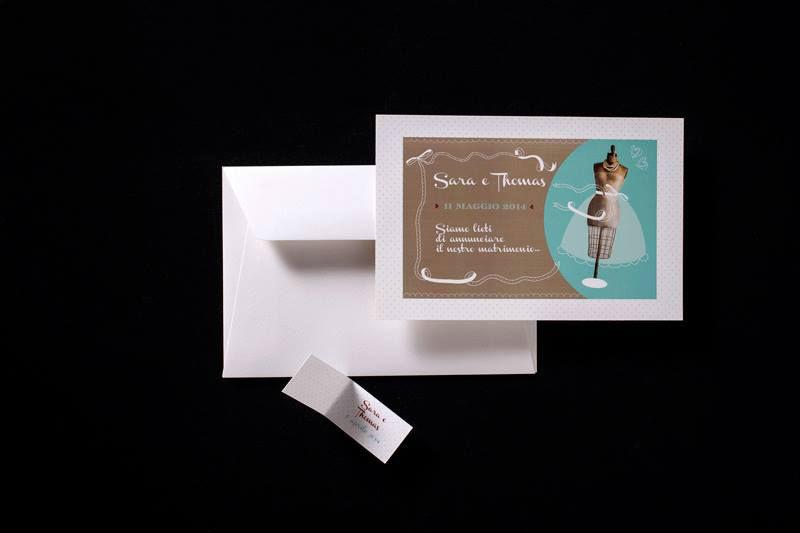 Partecipazione nozze Cartolina Vintage