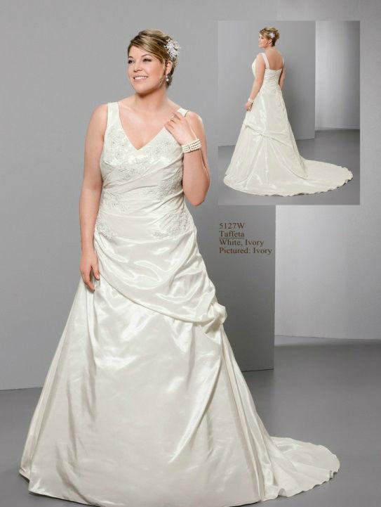 Beispiel: Brautmoden auch in Übergrößen, Foto: Hochzeitsmoden Diener.
