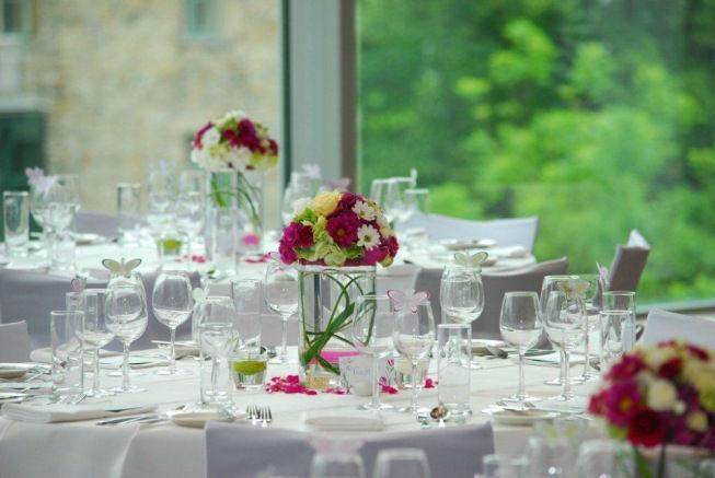 Beispiel: Ihr Hochzeitsgedeck, Foto: Schlosshotel Eisenstrasse.