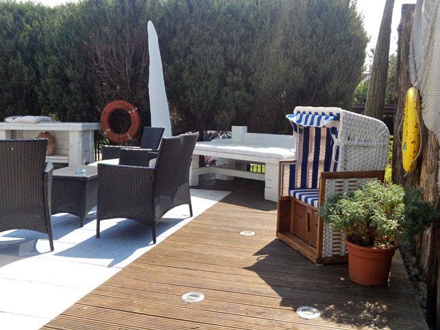 Beispiel: Sonnenterrasse, Foto: Landhotel Ostseetraum.