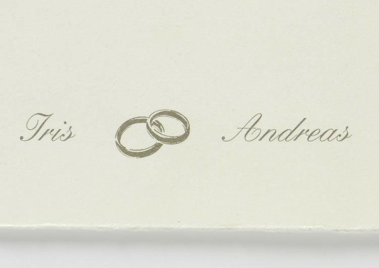 Beispiel: Laden Sie zur Hochzeit, Foto: Druckerei Friesl.
