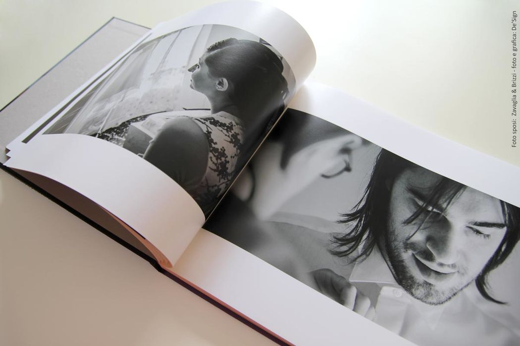 Interni fotolibro personalizzato per le foto del matrimonio