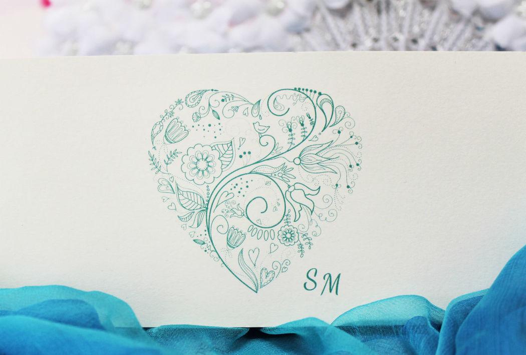 Coi Fiocchi wedding design - partecipazione di nozze avorio e Tiffany