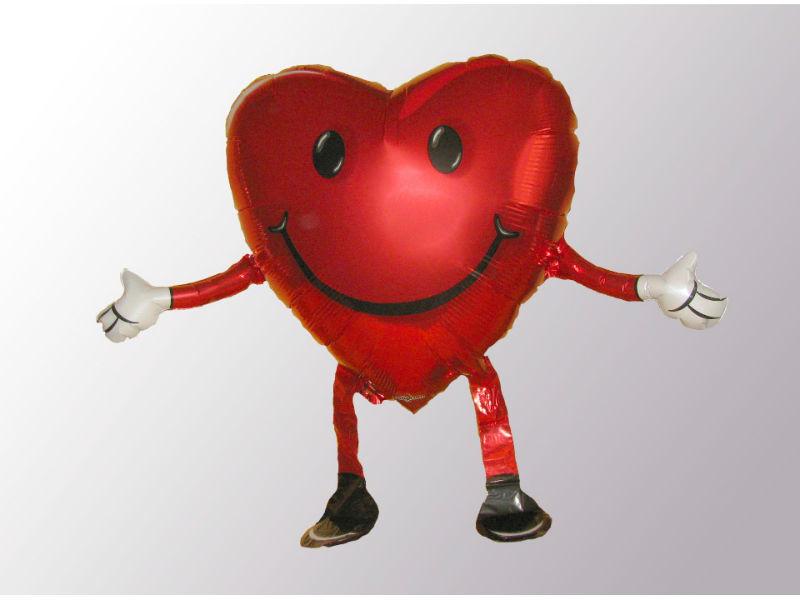 Beispiel: Ballon Herz, Foto: Ballonverpackung.