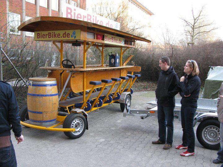 Beispiel: Bike mit Bierfass, Foto: BierBike Braunschweig.